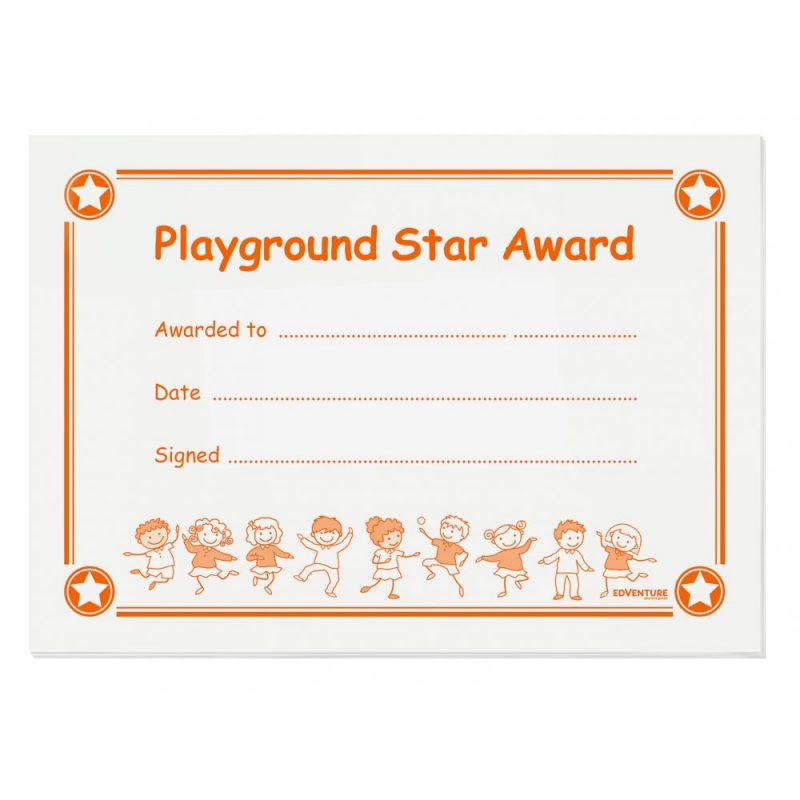 playtime star award certificate therese hoyle